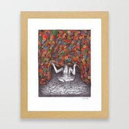 One last step Framed Art Print