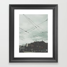 Queens Street West Framed Art Print