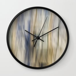 Soft Blue and Gold Abstract Wall Clock