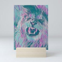 Pastel Roaring Lion Mini Art Print
