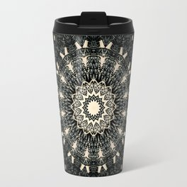 Decorative Black Ink Bohemian Mandala Travel Mug