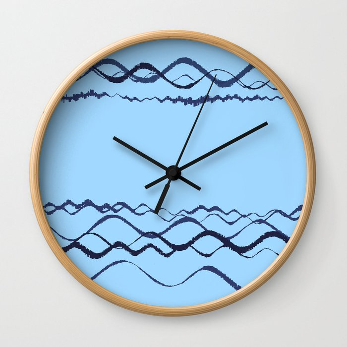 1380249359 in blue Wall Clock