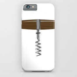 Corkscrew With Wooden Handle iPhone Case