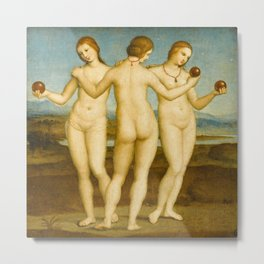 Raphael - The Three Graces Metal Print
