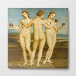 Raphael - The Three Graces Metal Print