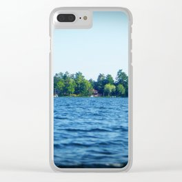 Lake Water View Color Photo Clear iPhone Case