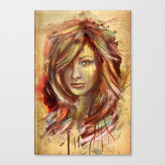 Olivia Wilde Digital Painting Portrait Canvas Print
