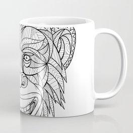 Chimpanzee Head Zentagle Coffee Mug
