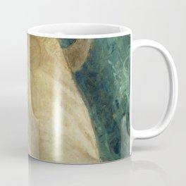 Backlite Nude Figure Oil painting Turquoise of Woman Coffee Mug