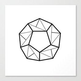 black line, decorative art prints for living rooms, geometric shapes, Wallpaper Home Decor Canvas Print