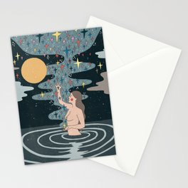Full Moon blessings Stationery Cards