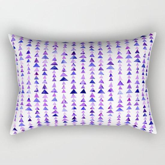 Purple Triangles Pattern 02 Rectangular Pillow