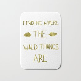 Wild Things - Gold Bath Mat