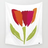 tulip Wall Tapestries featuring TULIP by lisa weedn
