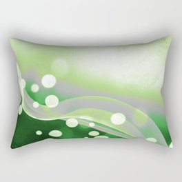 Aromantic Pride Simple Abstract Falling Radiance Rectangular Pillow