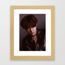 Jhope - Tattoos and leather Framed Art Print