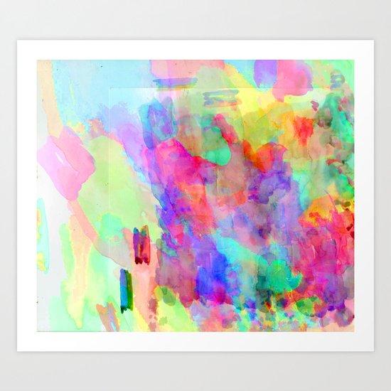 Neon Wash Art Print