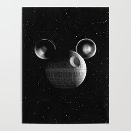 That's no moon... Disney Death Star Poster