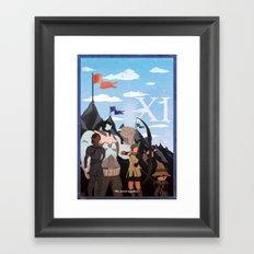 Vintage FF Poster XI Framed Art Print
