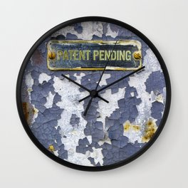 Patent Pending Wall Clock