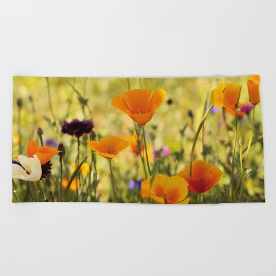 Summer Garden - JUSTART © Beach Towel