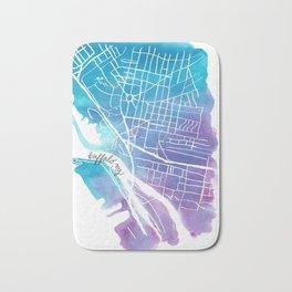 Buffalo, NY City Grid Bath Mat
