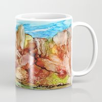 southwest Mugs featuring Rocky Southwest by Rosie Brown