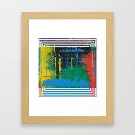 Color Chrome - Line graphic Framed Art Print