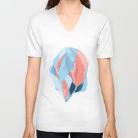 stone V-neck T-shirts featuring Stone by Toros Köse Design