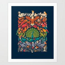 Aerial Spectrum : Blue Art Print