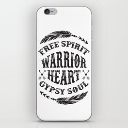 Warrior Heart iPhone Skin