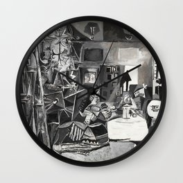 Pablo PIcasso The Maids Of Honor, Las Meninas, after Velázquez, 1957 Artwork Reproduction, Tshirts, Wall Clock