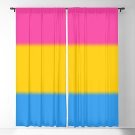 Pansexual Pride Flag Blackout Curtain