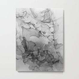 Harmony in Black and White Metal Print
