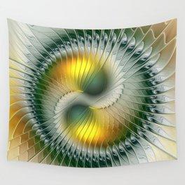 Like Yin and Yang, Abstract Fractal Art Wall Tapestry