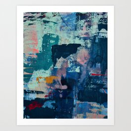 The Peace of Wild Things: a vibrant abstract piece in a variety of colors by Alyssa Hamilton Art Art Print