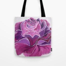 Knitted Flower Artwork Tote Bag