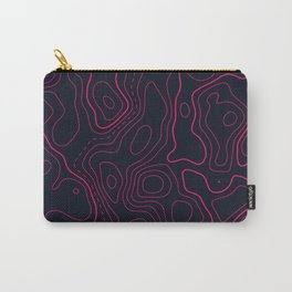 Topographic Map Pattern Carry-All Pouch