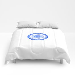 Snowflake #008 transparent Comforters