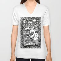 hell V-neck T-shirts featuring Hell by Guice Mann