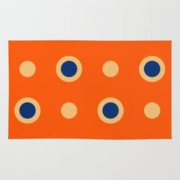 Polka Dot Pattern 241 Orange Blue Rug