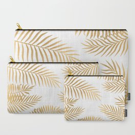 Gold palm leaves Carry-All Pouch