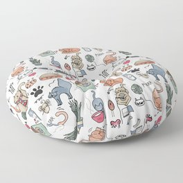 Cats Life Floor Pillow