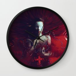 Red Communion Wall Clock