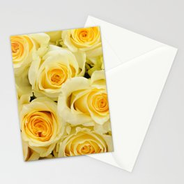 soft yellow roses close up Stationery Cards