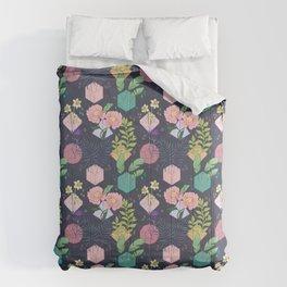 Botanical Dice (Dark) Comforters