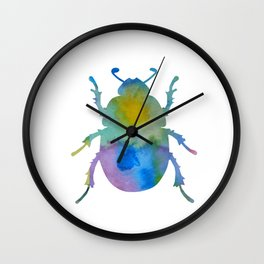 Beetle Scarabaeus Wall Clock