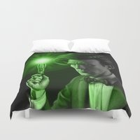 doctor who Duvet Covers featuring Doctor Who by Tony Calabro Illustration