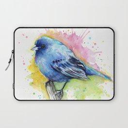 Blue Bird Indigo Bunting Colorful Animals Laptop Sleeve