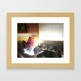 College Kitchen Sink Framed Art Print